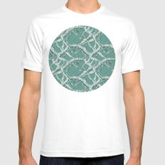 Winter Branches Mens Fitted Tee White SMALL