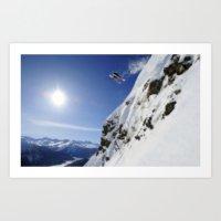 Off the Cliff Art Print