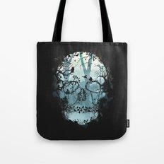 Dark Forest Skull Tote Bag