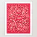 Whatever Will Be, Will Be – Melon Palette Art Print
