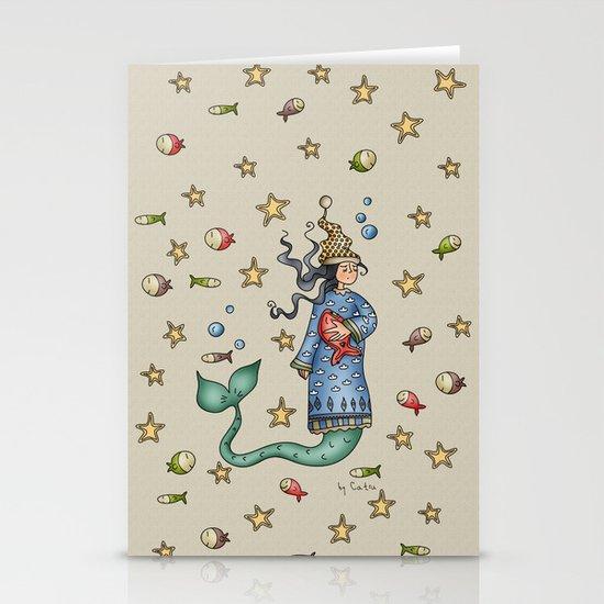 Mermaid {Sleepy} Stationery Card