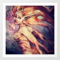 Galaxy Seer Art Print