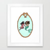 Mermaid Crush Framed Art Print