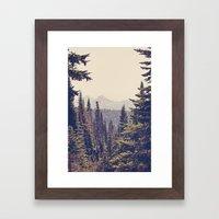 Mountains Through The Tr… Framed Art Print