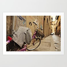 Lavender Bicycle - Firenze Art Print