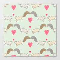 Squirrel Love Canvas Print