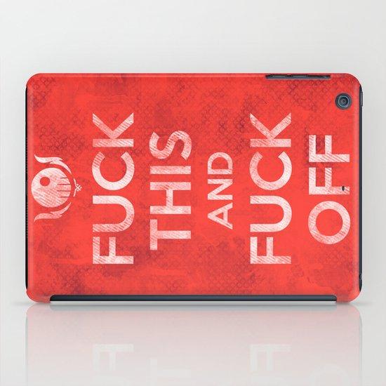 Public Service Announcement iPad Case