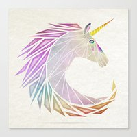 unicorn cercle Canvas Print