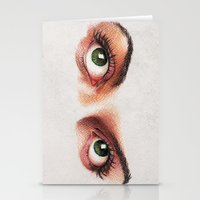 Eyes girl are looking something Stationery Cards