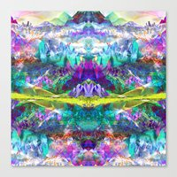 Crystal Mountains One Canvas Print
