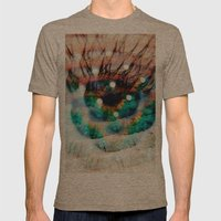 Green Eyes Hypnotize  Mens Fitted Tee Tri-Coffee SMALL