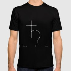 Saturn Black SMALL Mens Fitted Tee
