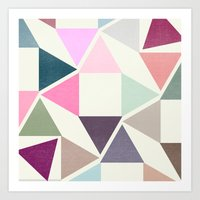 SPRING TRIANGLES Art Print