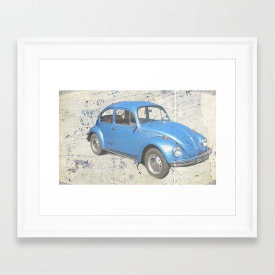 BLUE VW Framed Art Print