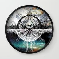 Wall Clock featuring TwoWorldsofDesign by J.Lauren
