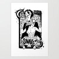 THE GREAT CORNHOLIO Art Print