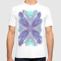 Watercolor Abstract White Mens Fitted Tee SMALL