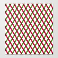 Holiday Ribbon Pattern Canvas Print
