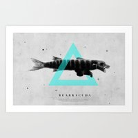 Bearracuda Art Print