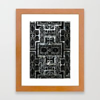 SILVER ARTDECO  Framed Art Print