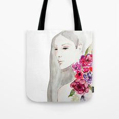 Face&flowers Tote Bag