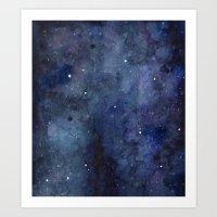 Night Sky Stars Galaxy  … Art Print