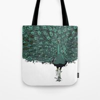 Peacock -blue Tote Bag