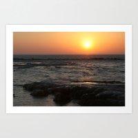 Sunrise On Lake Michigan… Art Print