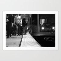 San Francisco Muni in Black and White Art Print
