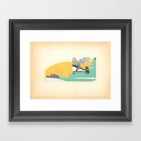 Brooklyn Summer Framed Art Print