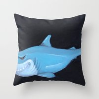 Toy Shark Throw Pillow