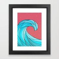 The Lone Wave Framed Art Print