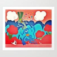 Majukey Art Print