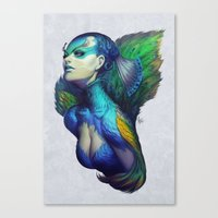 Peacock Queen Canvas Print