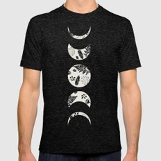 Lunar Nature Mens Fitted Tee Tri-Black SMALL