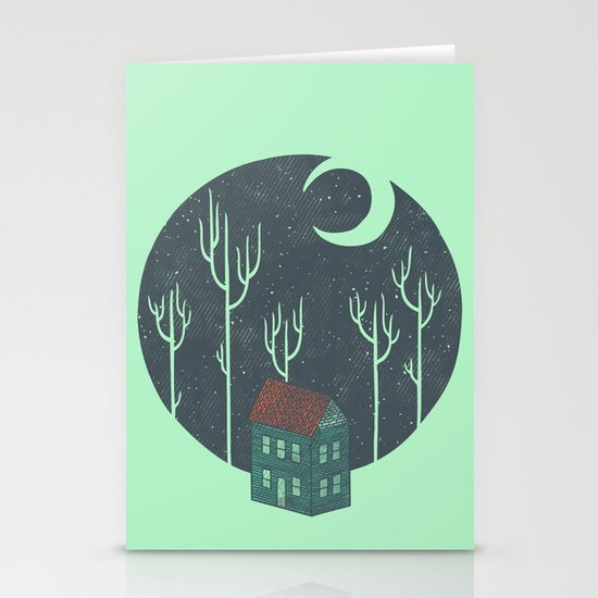 At Night Stationery Card