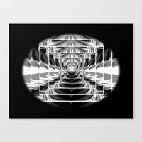 Black+White Abstract.Modern. Canvas Print