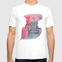My Touch Mens Fitted Tee White SMALL