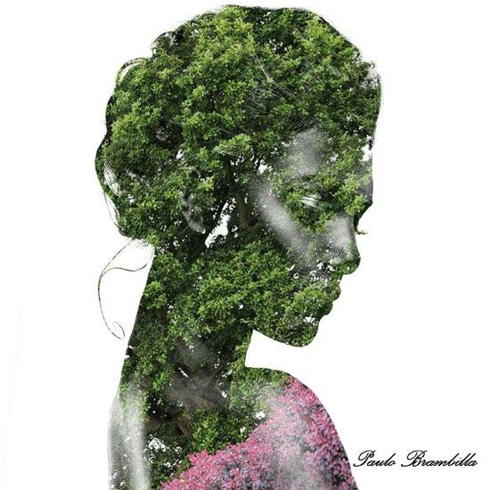 Girl tree Canvas Print
