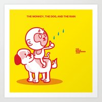 The Dog, The Monkey, And… Art Print