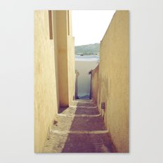 Yellow Path Canvas Print