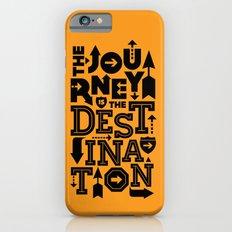 Orange Journey Quote iPhone 6 Slim Case