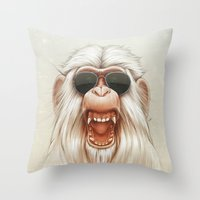 The Great White Angry Mo… Throw Pillow