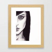 Under Your Bed (Natalie Portman)  Framed Art Print