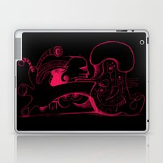 Human body in magenta Laptop & iPad Skin