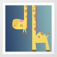 Cute Giraffe Art Print