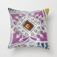 Festive Morning Throw Pillow