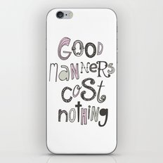 Good Manners Are Free • Pink iPhone & iPod Skin