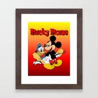 Mucky Mouse Framed Art Print
