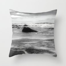 Waves III Throw Pillow